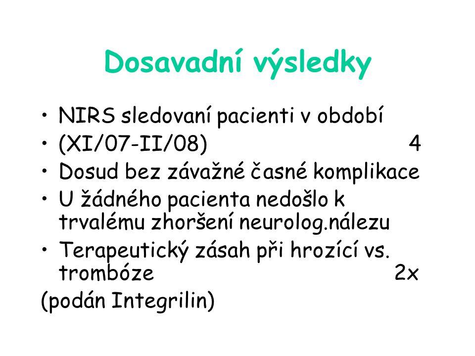 Dosavadní výsledky NIRS sledovaní pacienti v období (XI/07-II/08) 4