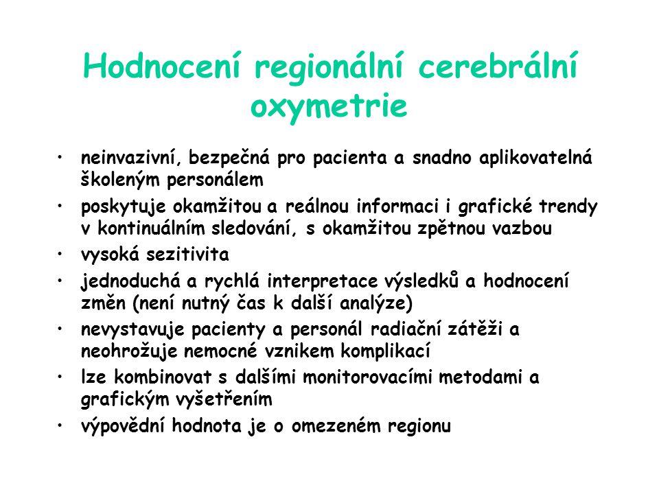 Hodnocení regionální cerebrální oxymetrie