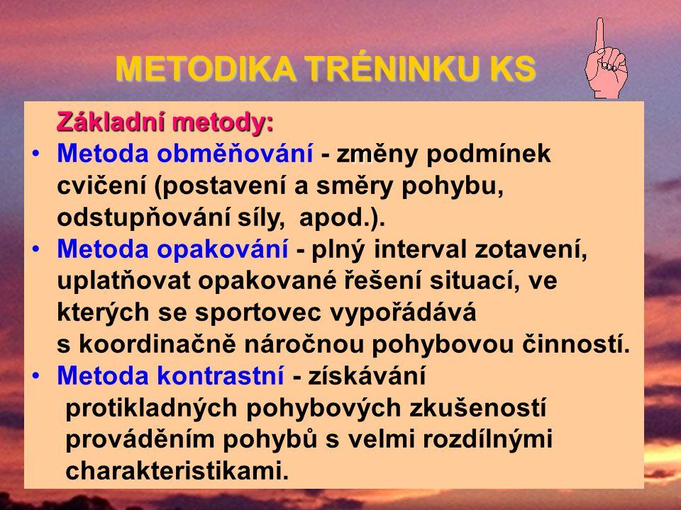 METODIKA TRÉNINKU KS Základní metody: