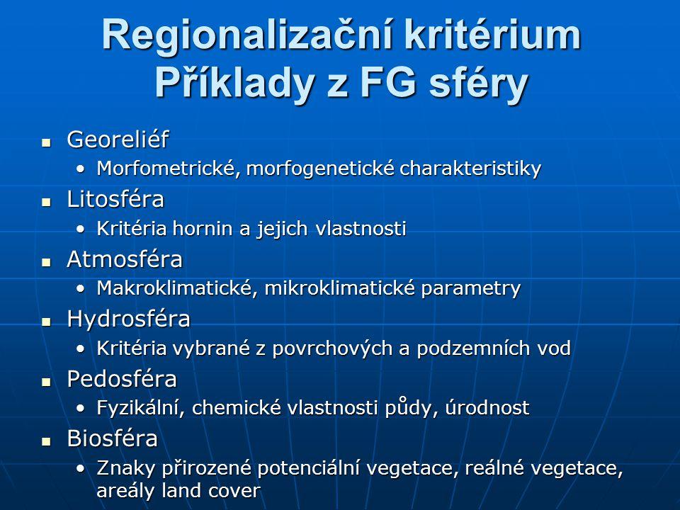 Regionalizační kritérium