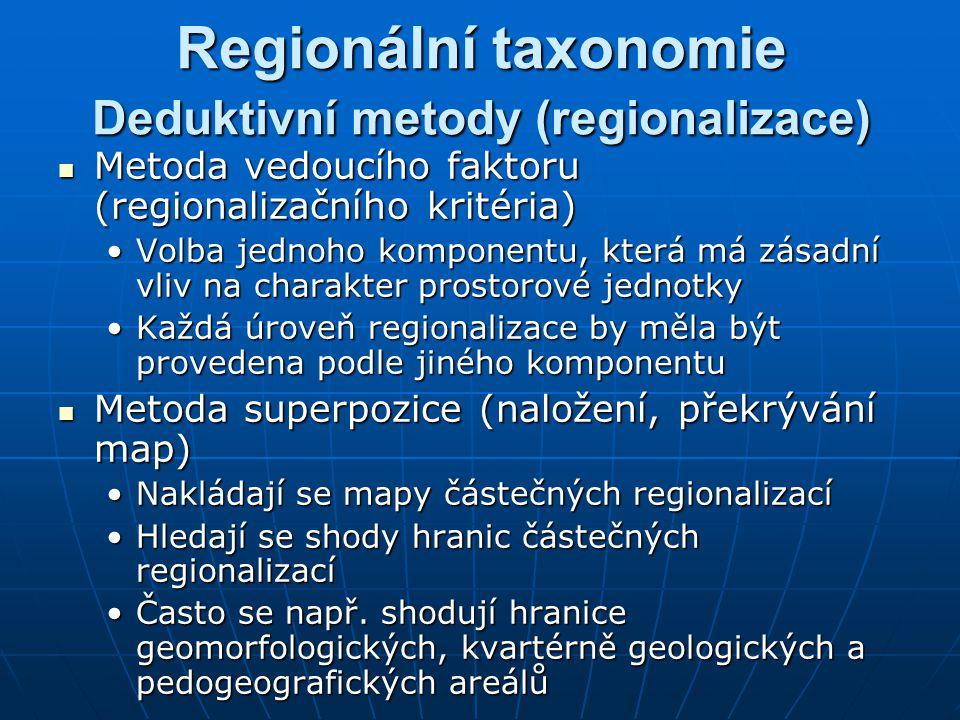 Deduktivní metody (regionalizace)