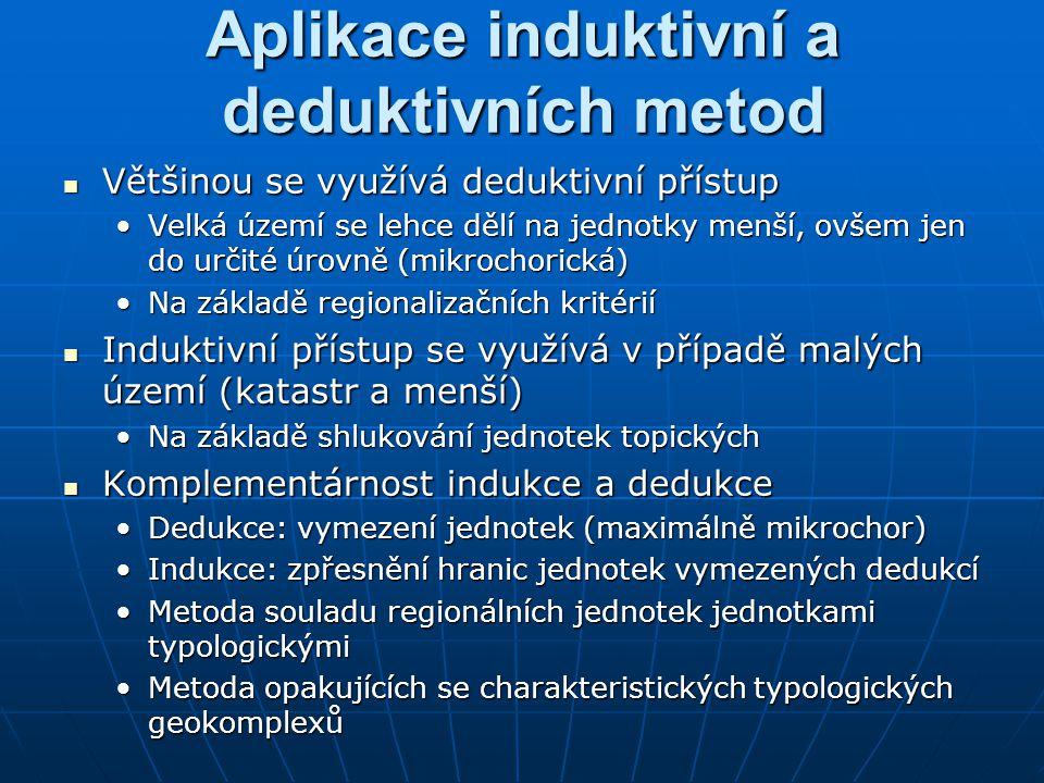 Aplikace induktivní a deduktivních metod