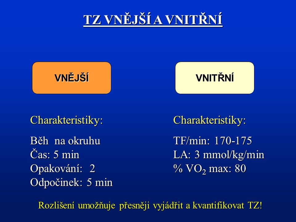 Rozlišení umožňuje přesněji vyjádřit a kvantifikovat TZ!