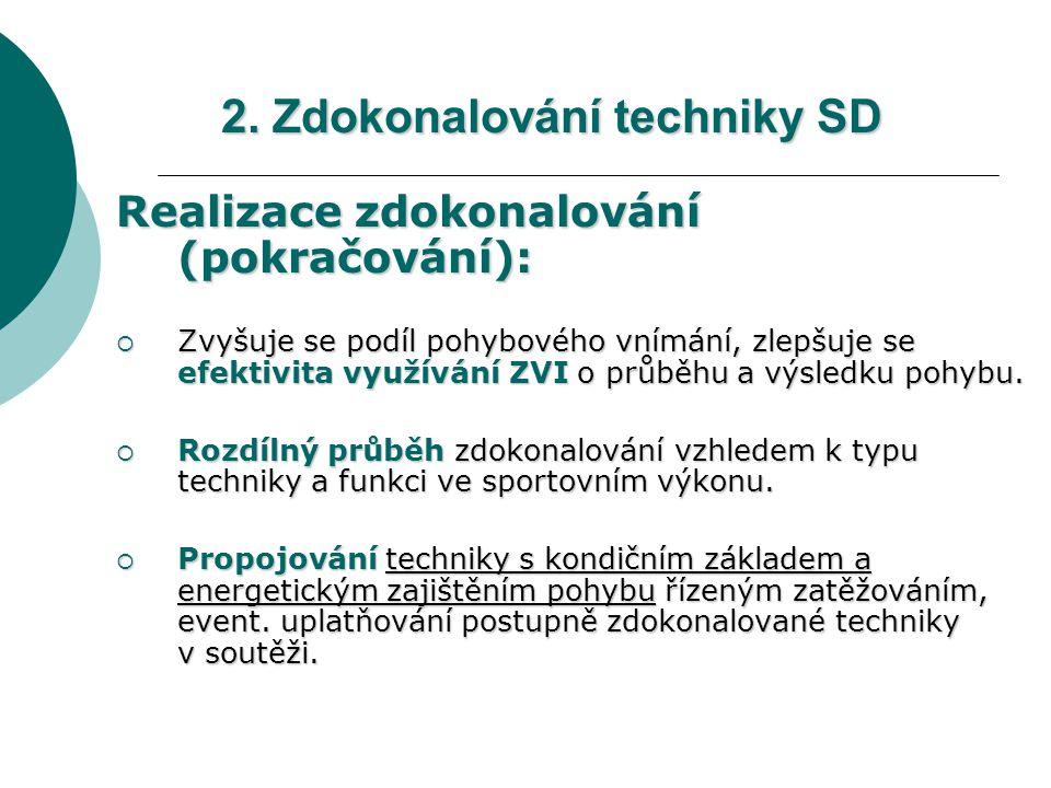 2. Zdokonalování techniky SD
