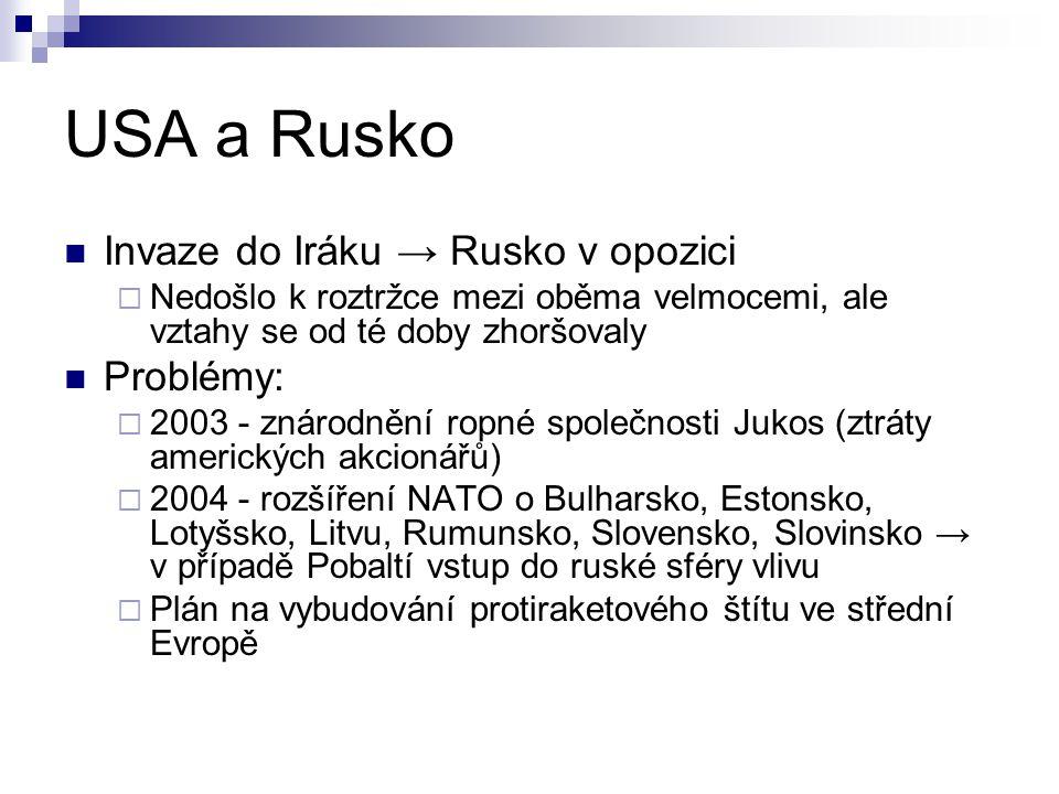 USA a Rusko Invaze do Iráku → Rusko v opozici Problémy: