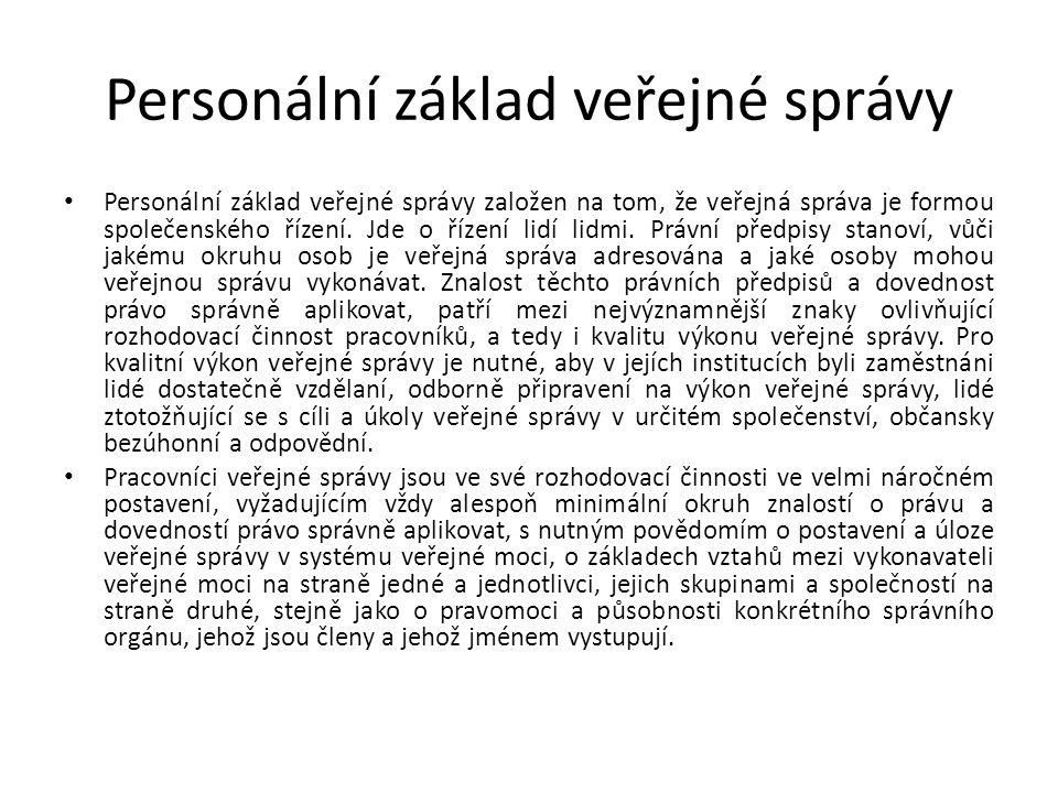 Personální základ veřejné správy