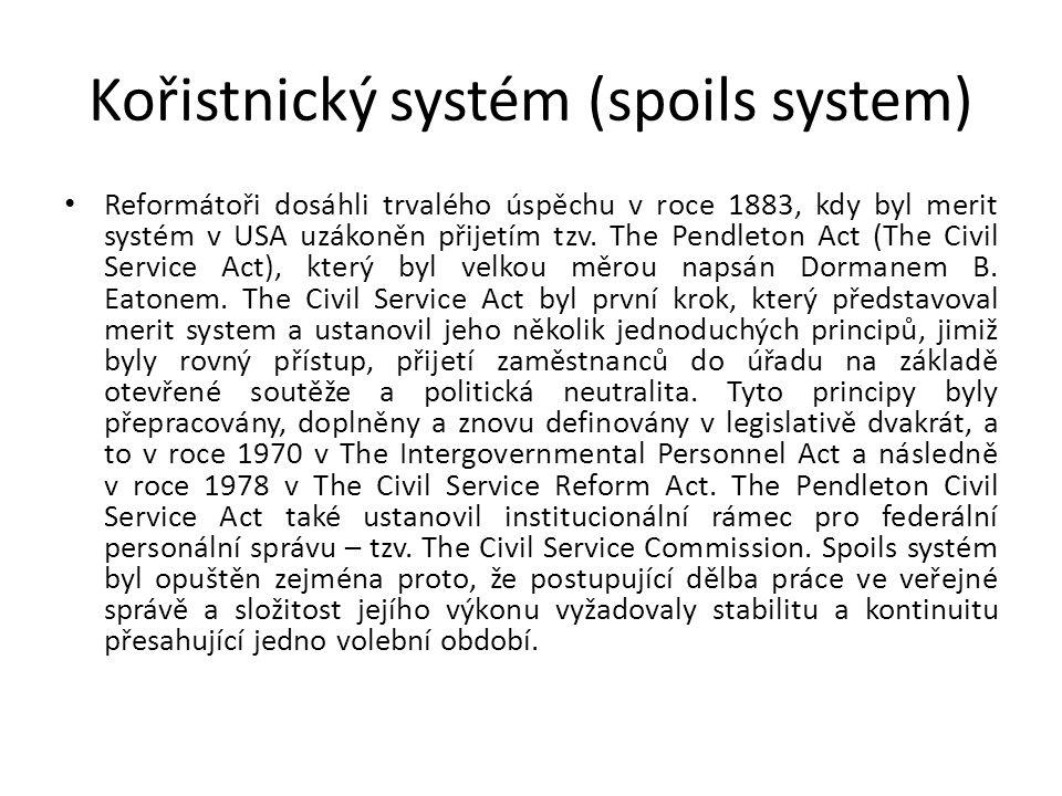 Kořistnický systém (spoils system)