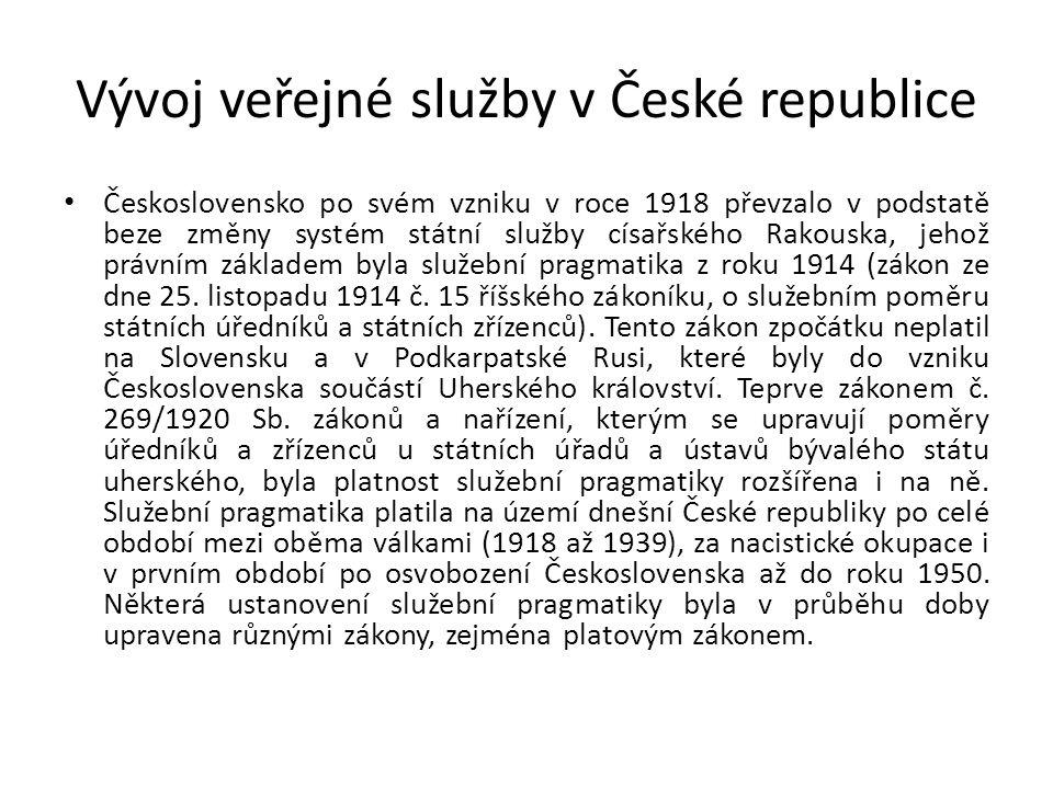 Vývoj veřejné služby v České republice
