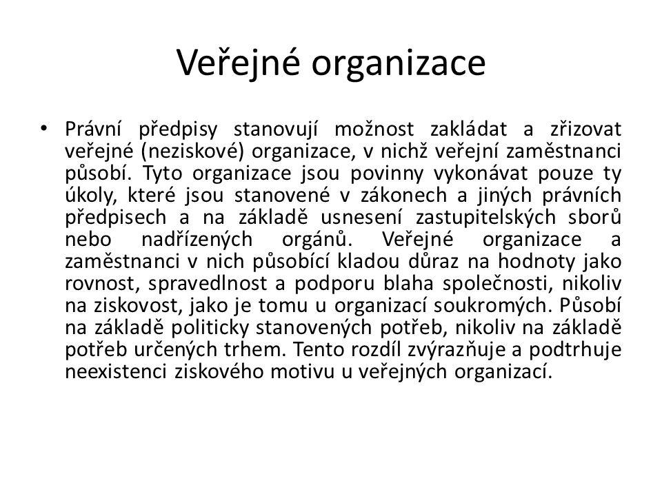 Veřejné organizace