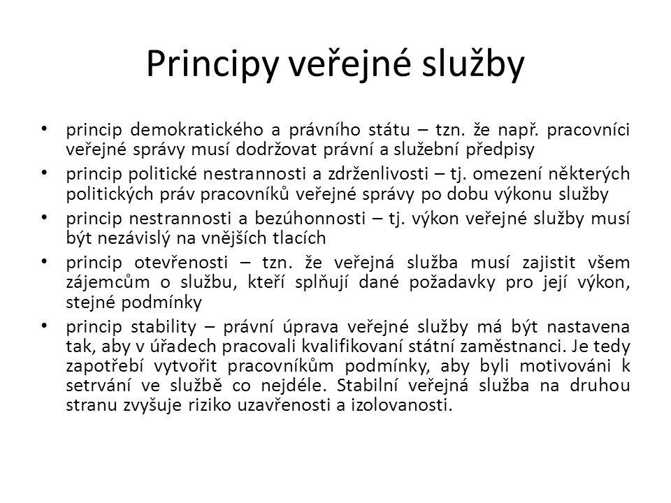 Principy veřejné služby
