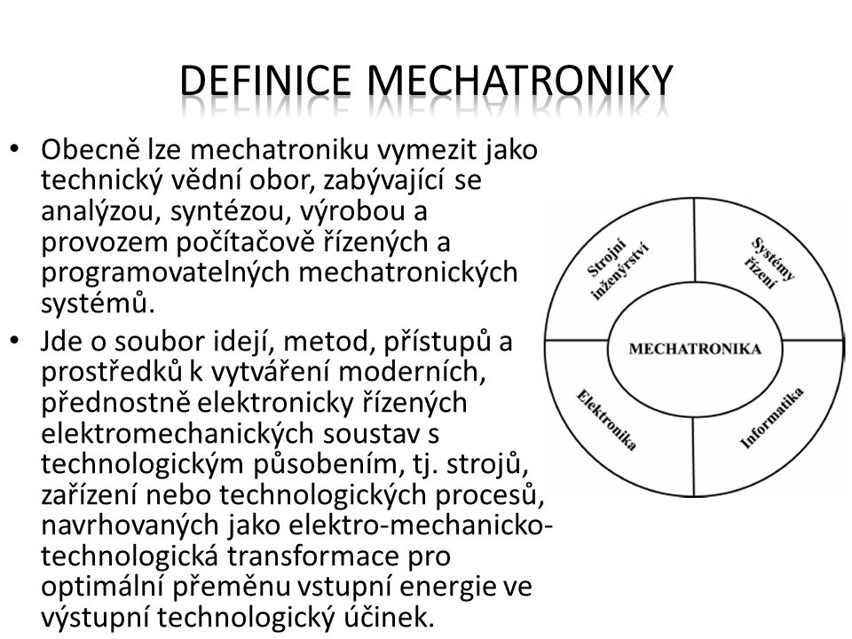 Definice mechatroniky