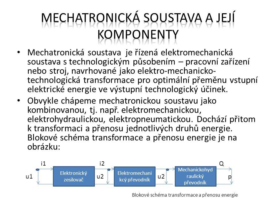 Mechatronická soustava a její komponenty