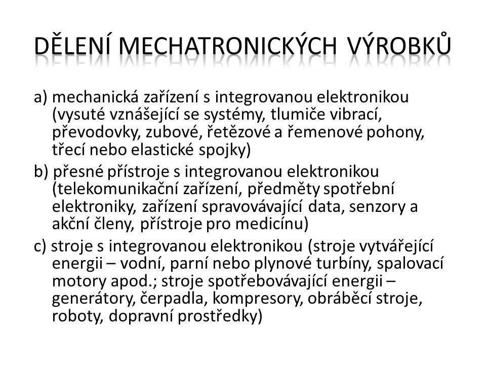 Dělení mechatronických výrobků