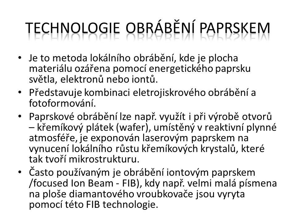 Technologie obrábění paprskem