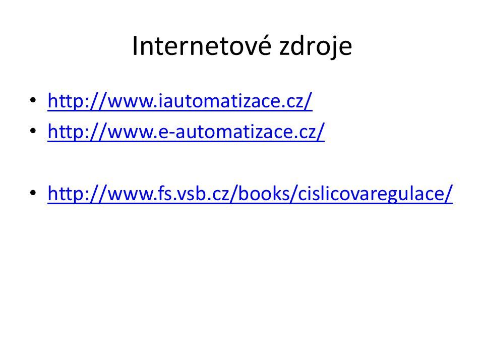 Internetové zdroje http://www.iautomatizace.cz/