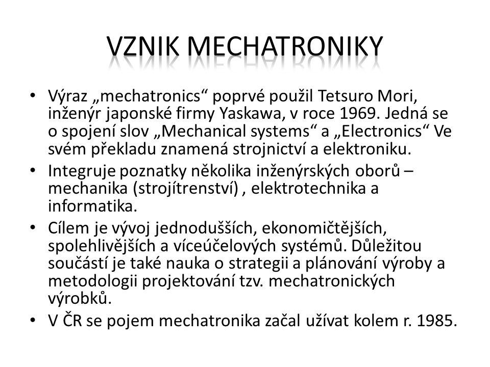 Vznik mechatroniky