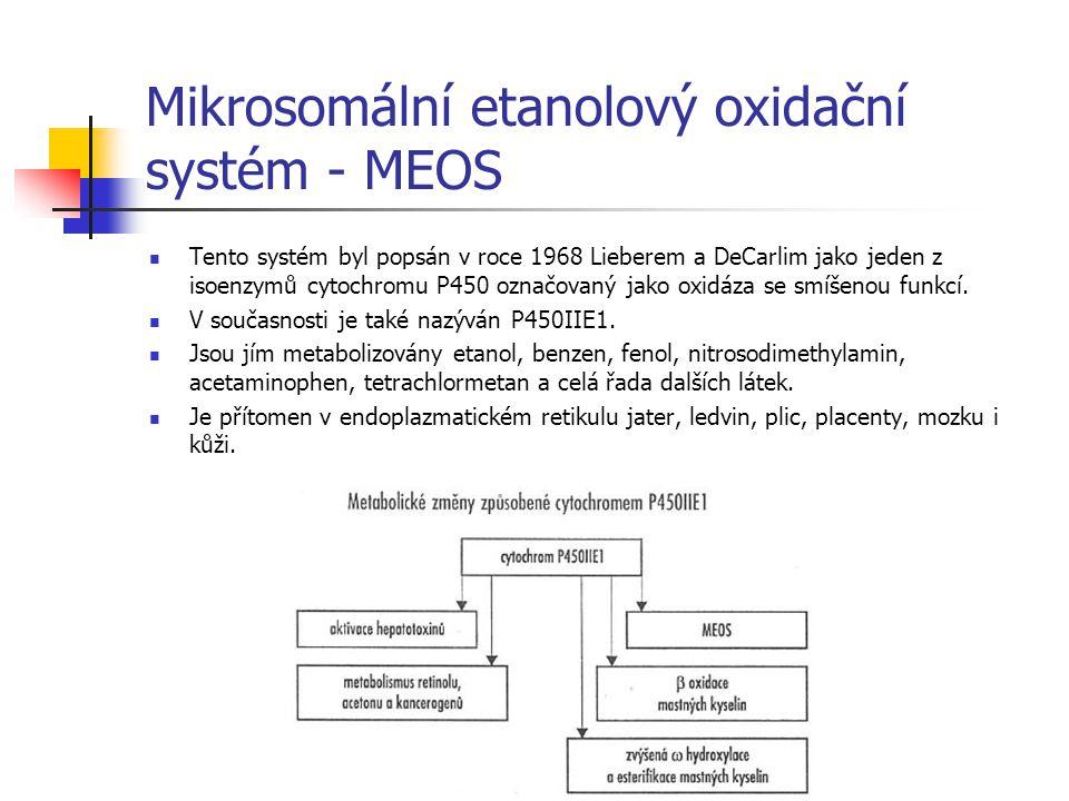 Mikrosomální etanolový oxidační systém - MEOS