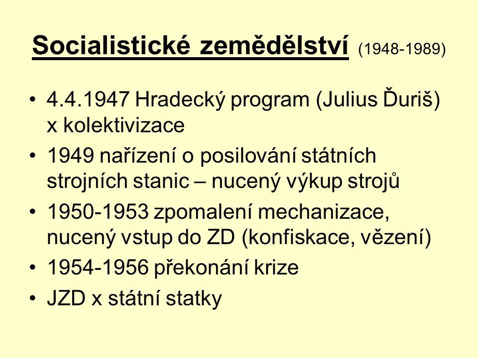 Socialistické zemědělství (1948-1989)