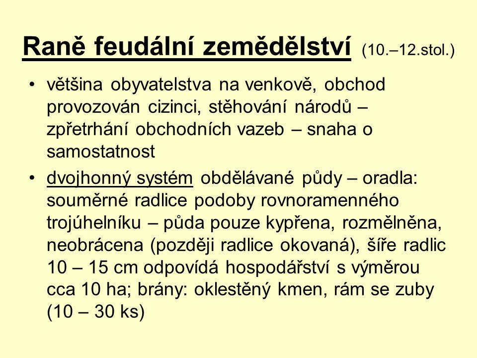 Raně feudální zemědělství (10.–12.stol.)