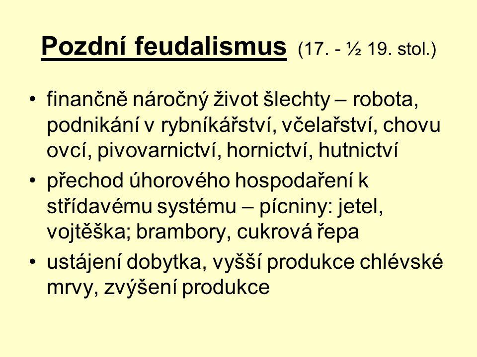 Pozdní feudalismus (17. - ½ 19. stol.)
