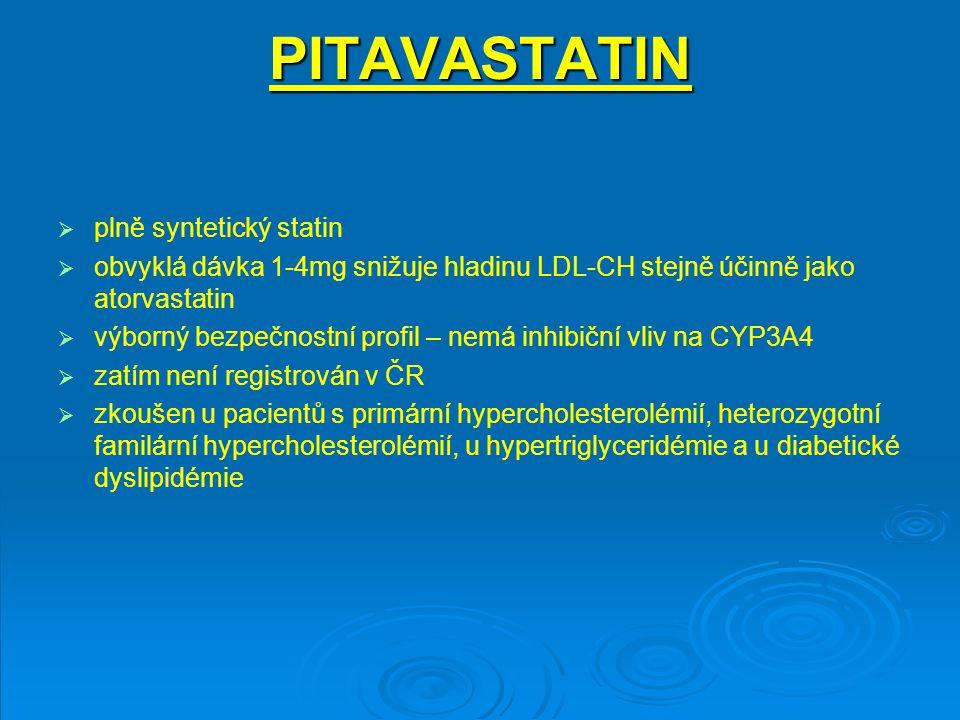 PITAVASTATIN plně syntetický statin