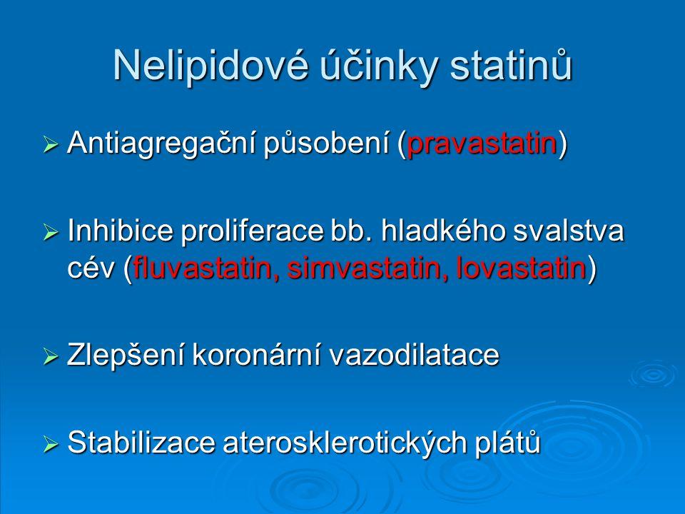 Nelipidové účinky statinů