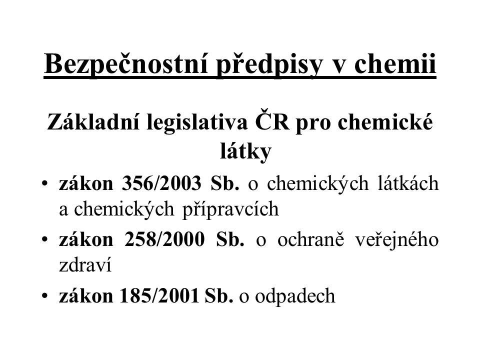 Bezpečnostní předpisy v chemii