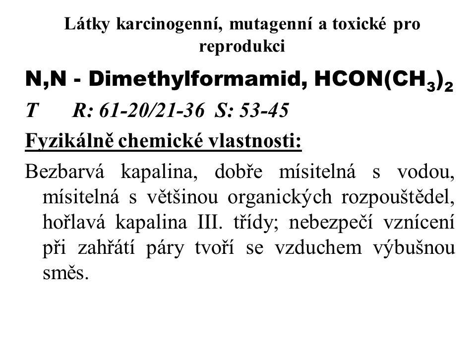Látky karcinogenní, mutagenní a toxické pro reprodukci