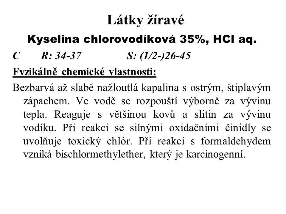 Kyselina chlorovodíková 35%, HCl aq.