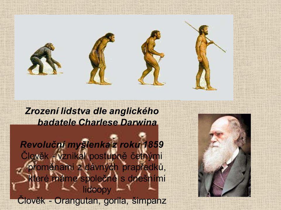 Zrození lidstva dle anglického badatele Charlese Darwina