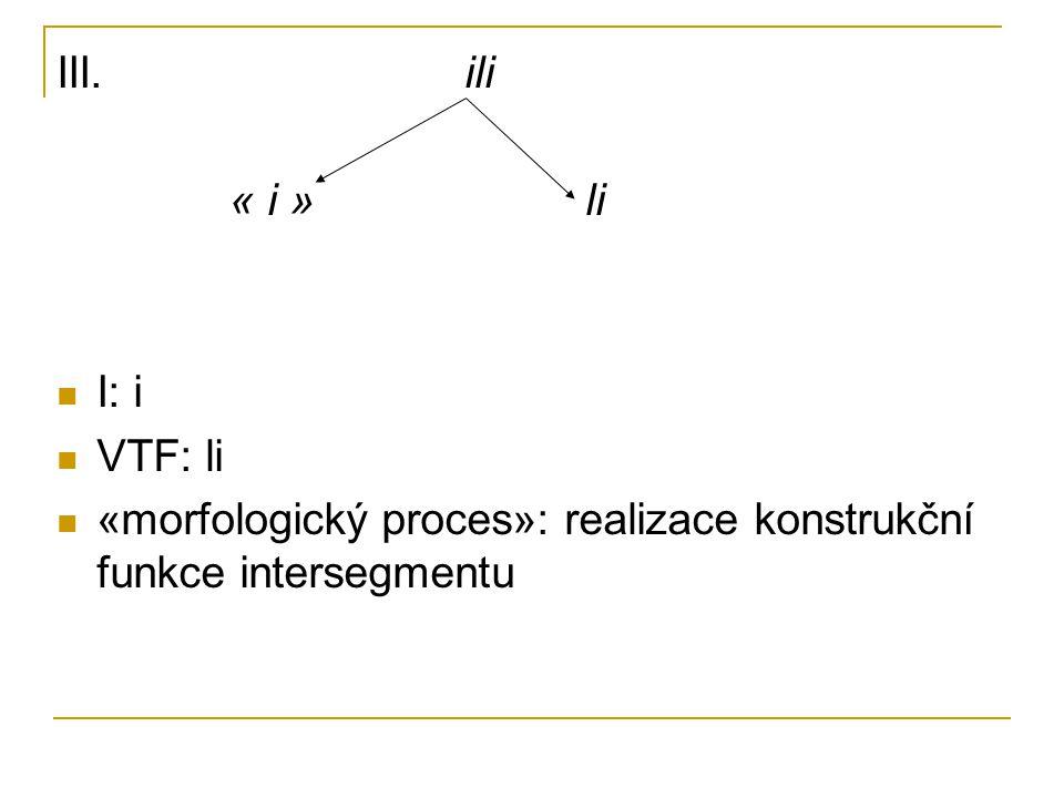 III. ili « i » li. I: i. VTF: li.