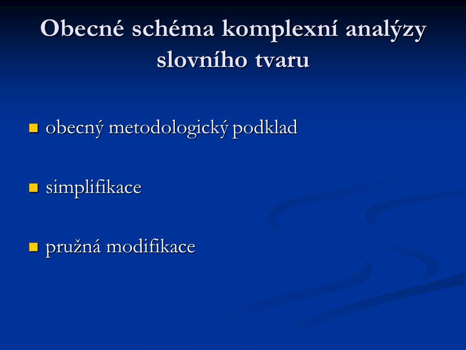 Obecné schéma komplexní analýzy slovního tvaru