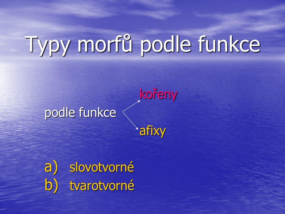 Typy morfů podle funkce
