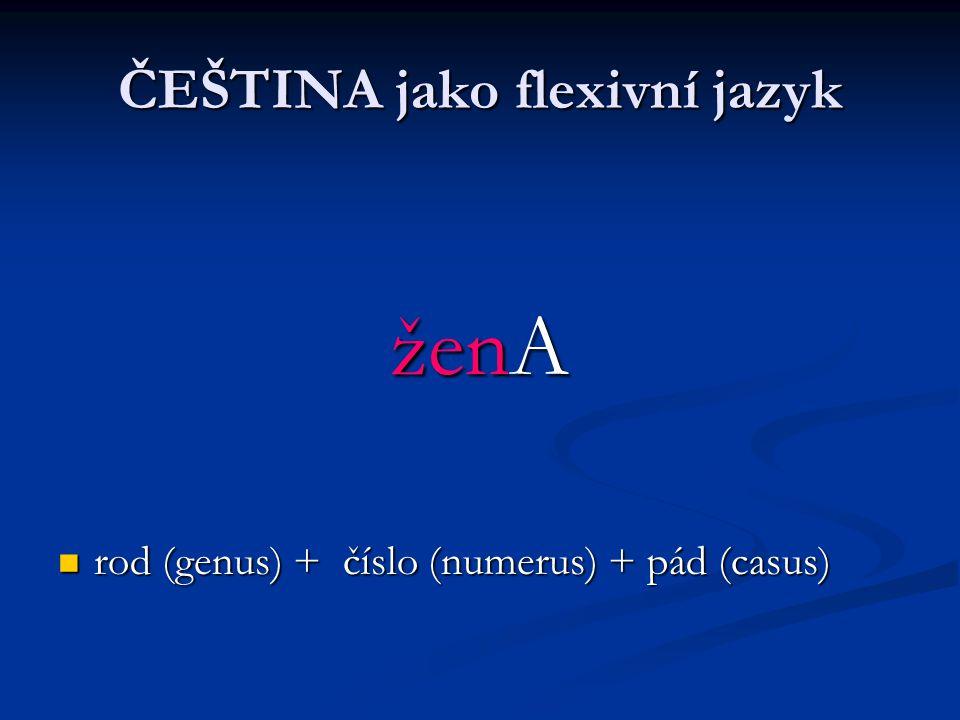 ČEŠTINA jako flexivní jazyk