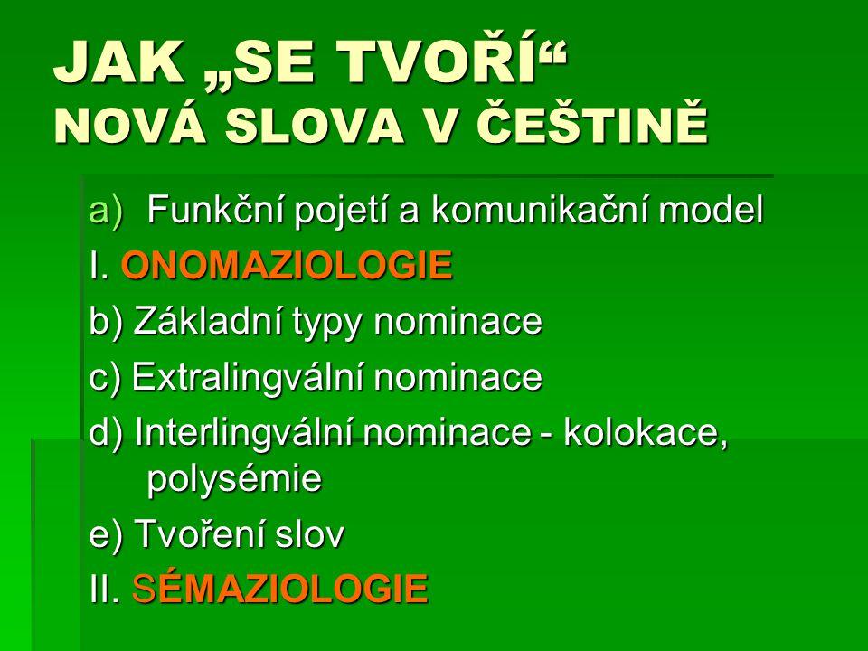 """JAK """"SE TVOŘÍ NOVÁ SLOVA V ČEŠTINĚ"""