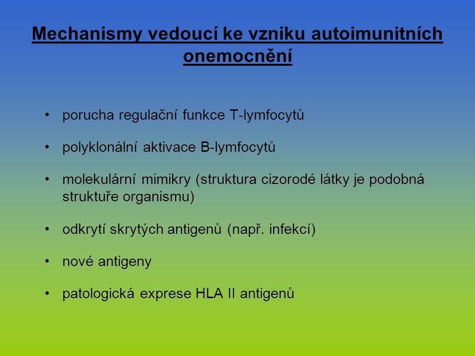 Mechanismy vedoucí ke vzniku autoimunitních onemocnění