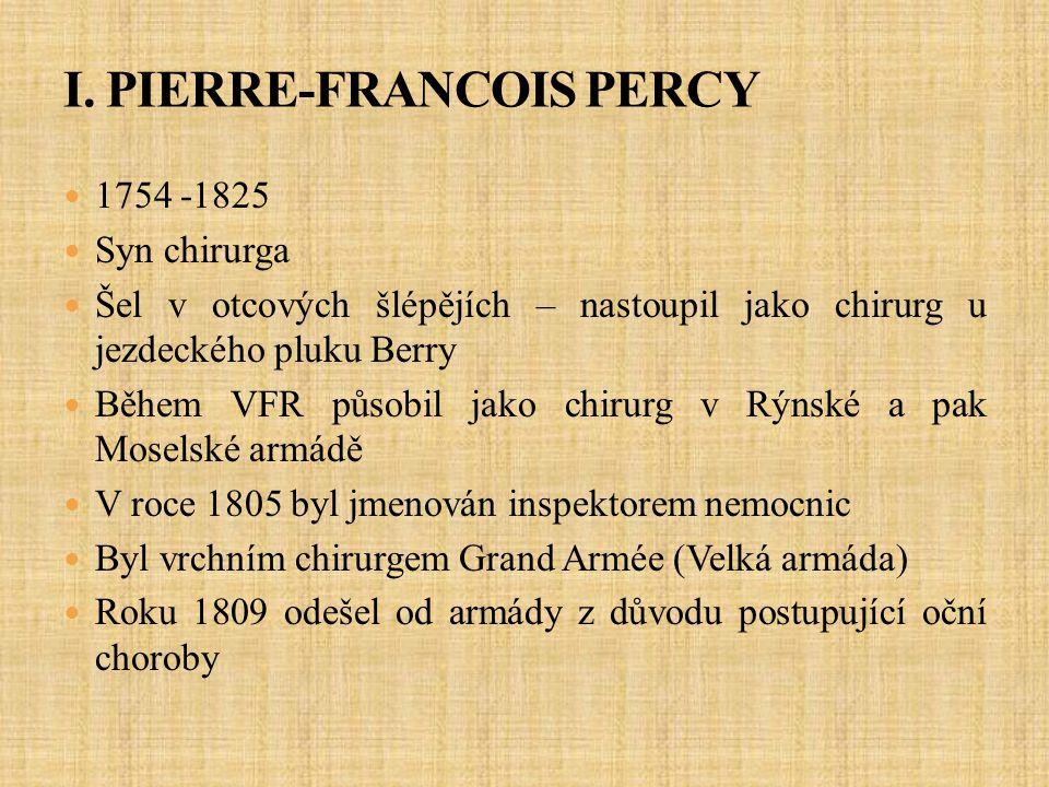 I. PIERRE-FRANCOIS PERCY