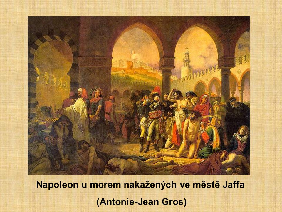 Napoleon u morem nakažených ve městě Jaffa