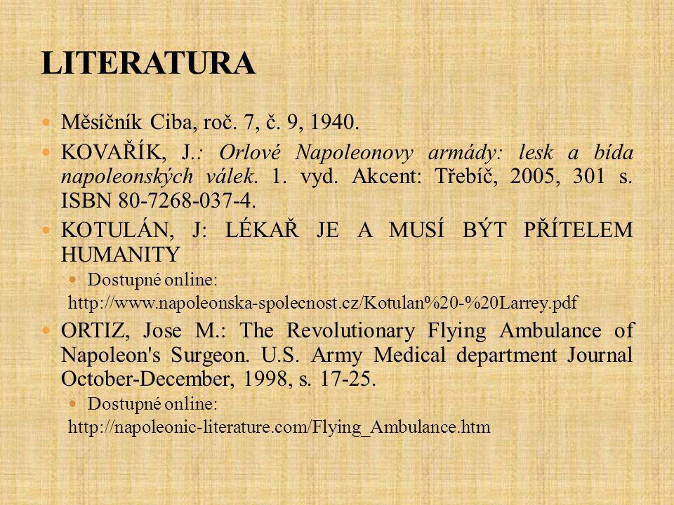 LITERATURA Měsíčník Ciba, roč. 7, č. 9, 1940.