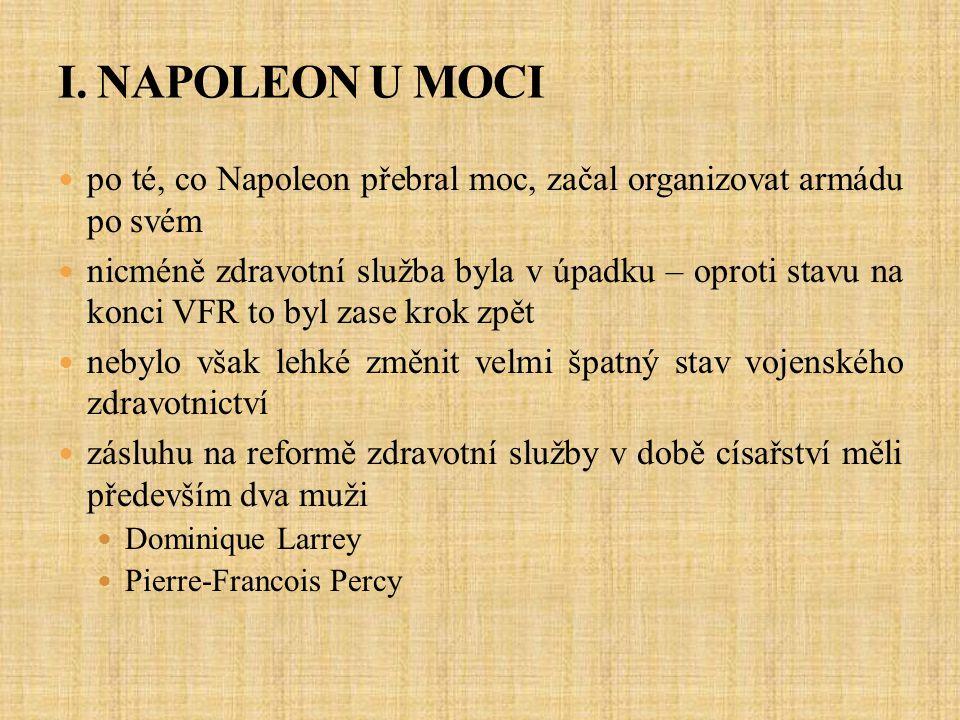 I. NAPOLEON U MOCI po té, co Napoleon přebral moc, začal organizovat armádu po svém.