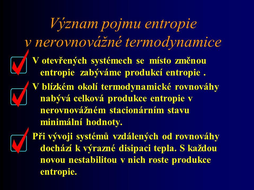 Význam pojmu entropie v nerovnovážné termodynamice