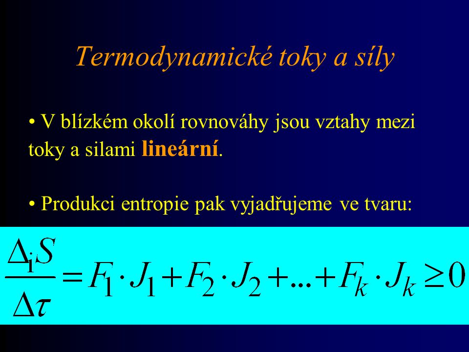 Termodynamické toky a síly