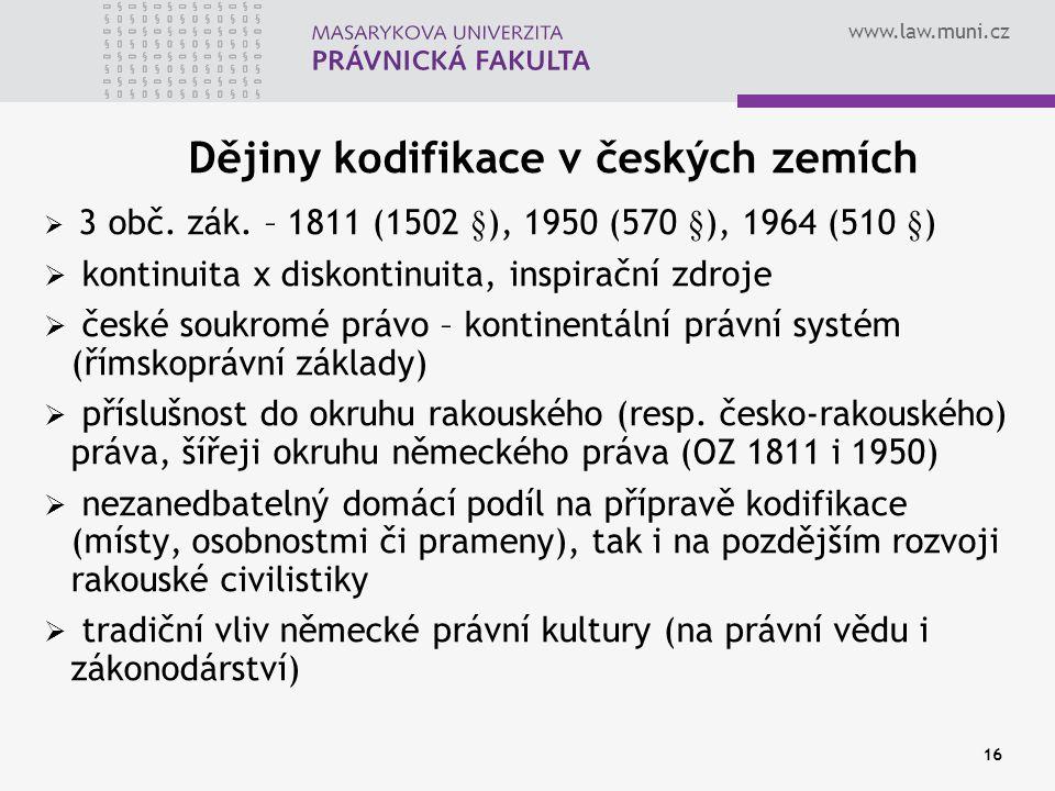 Dějiny kodifikace v českých zemích