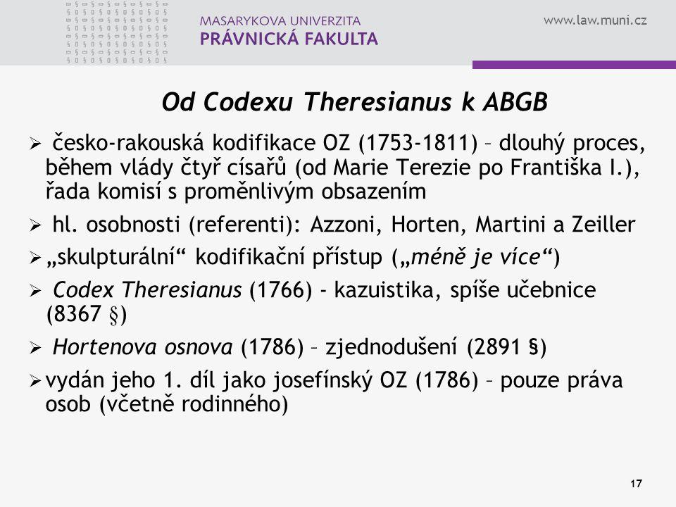 Od Codexu Theresianus k ABGB