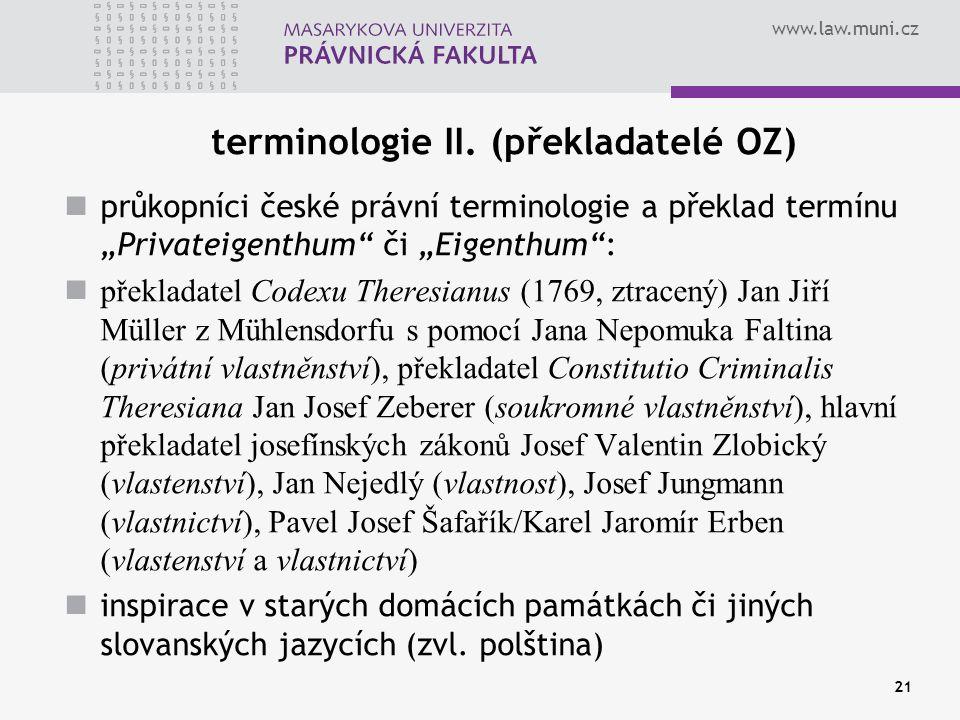 terminologie II. (překladatelé OZ)