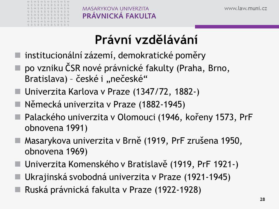 Právní vzdělávání institucionální zázemí, demokratické poměry