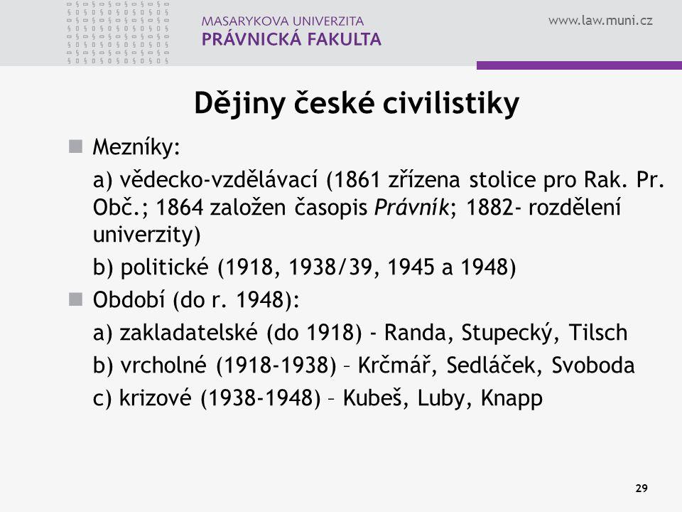 Dějiny české civilistiky