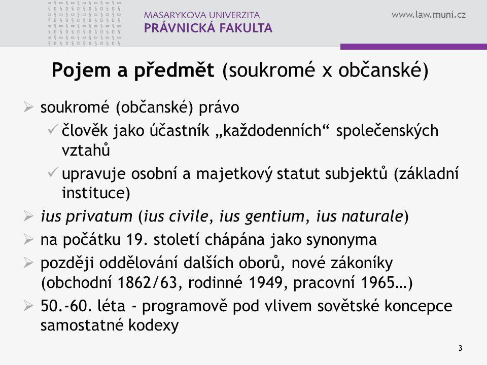Pojem a předmět (soukromé x občanské)