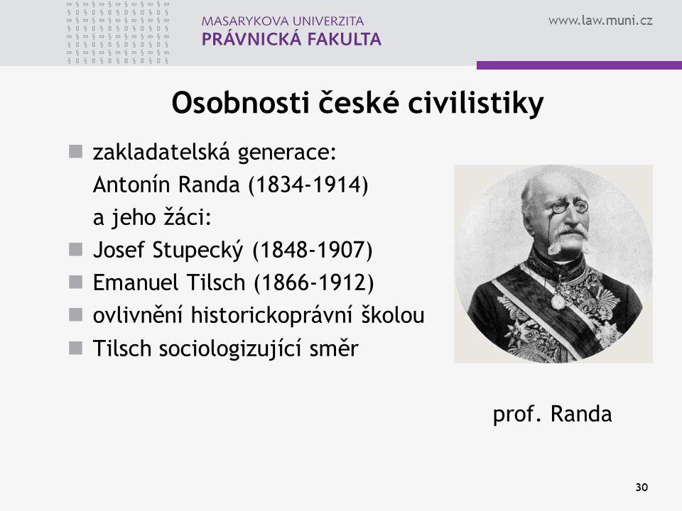 Osobnosti české civilistiky