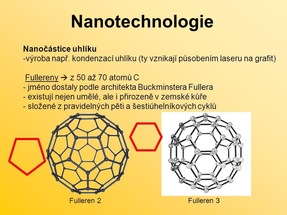 Nanotechnologie Nanočástice uhlíku